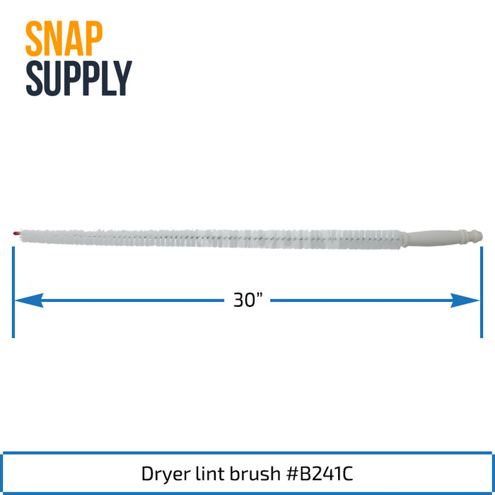 B241C Lint Brush for Upper Level Dryer Trap - Snap Supply -Dryer Parts and Accessory [Product_Sku]