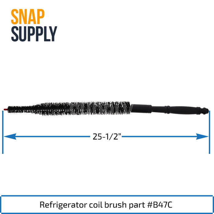 B47C Refrigerator Coil Brush - Snap Supply -Refrigerator Parts and Accessory [Product_Sku]