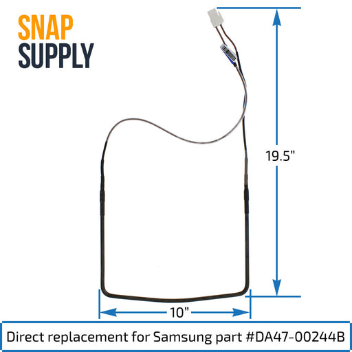 DA47-00244B Samsung Defrost Heater - Snap Supply -Refrigerator Parts and Accessory [Product_Sku]