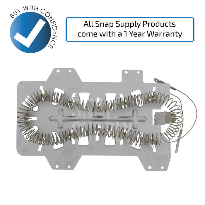 DC47-00019A DC47-00018A DC96-00887A Dryer Element & Thermostat Kit for Samsung - Snap Supply -Dryer Element [Product_Sku]