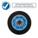 "Drum roller with text ""All Snap Supply products come with a 1 year warranty"""