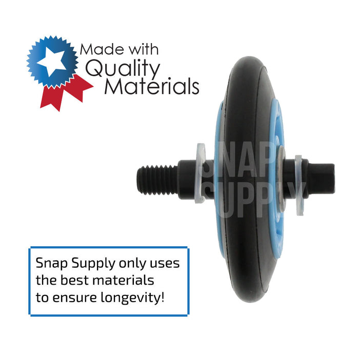 "Drum roller with text ""Snap Supply only uses the best material to ensure longevity"""