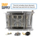 "Dryer heating element and thermostat kit with text ""This kit includes dryer element, thermal fuse and limit & fuse kit."""