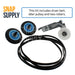 DC97-16782A 6602-001655 DC96-00882C Dryer Maintenance Kit (2) for Samsung - This kit includes dryer belt, idler pulley and two rollers.