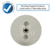 "Gas range burner knob with text ""All Snap Supply products come with a 1 year warranty."""