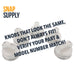 "Gas range burner knob with text ""knobs that look the same don't always fit! Verify your part & model number match!"""