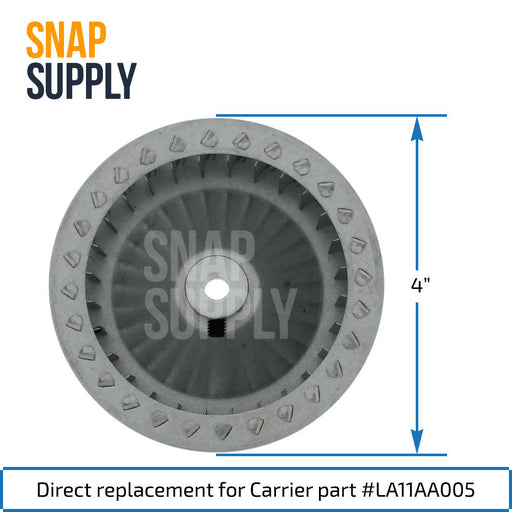 LA11AA005 Inducer Motor Blower Wheel for Carrier - Snap Supply -Home Improvement [Product_Sku]