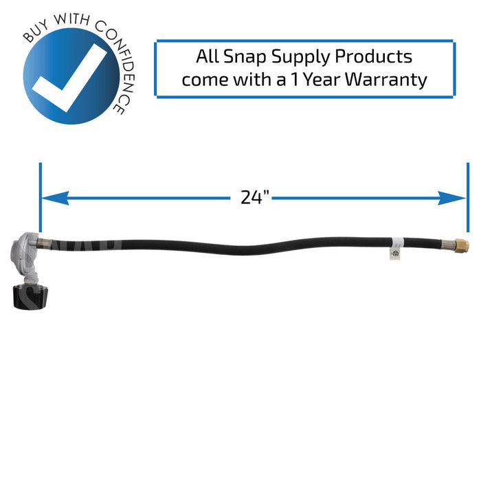 "QCC124 24"" Propane Regulator Hose for Gas Grill - Snap Supply -BBQ Parts and Accessory [Product_Sku]"