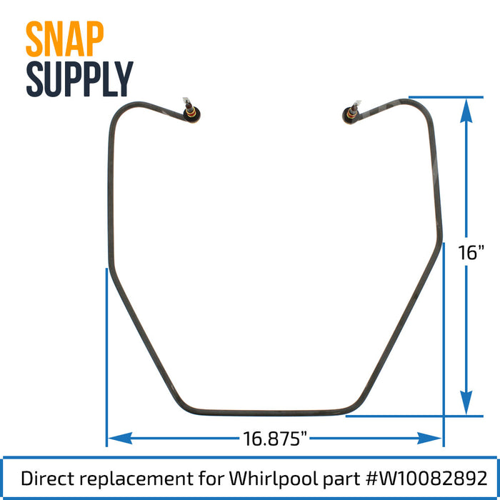 W10082892 Dishwasher Heating Element for Whirlpool - Snap Supply -Dishwasher Element [Product_Sku]