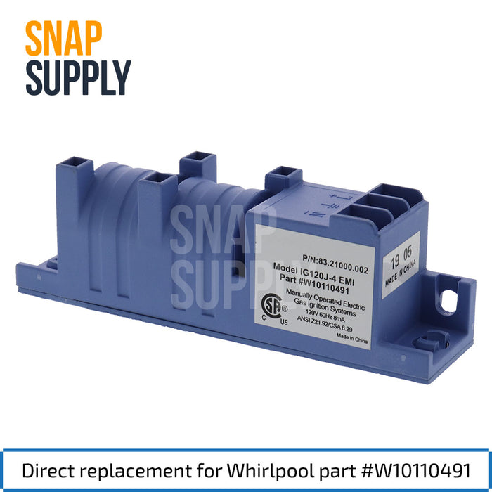 W10110491 Spark Module for Whirlpool