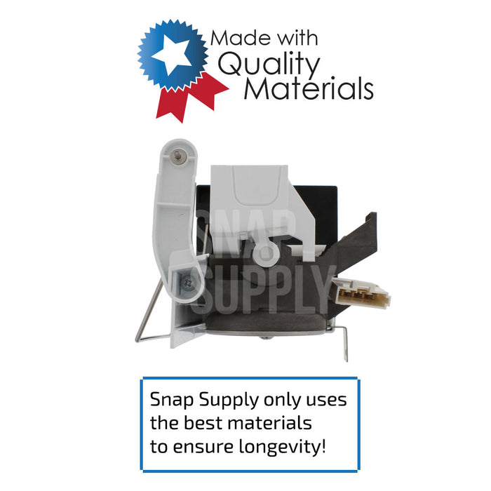 "Ice maker with text ""Snap Supply only uses the best materials to ensure longevity!"""