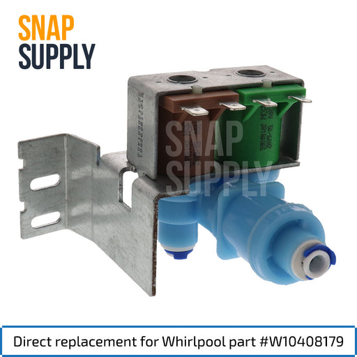 W10408179 Water Inlet Valve for Whirlpool - Snap Supply -Refrigerator Parts and Accessory [Product_Sku]