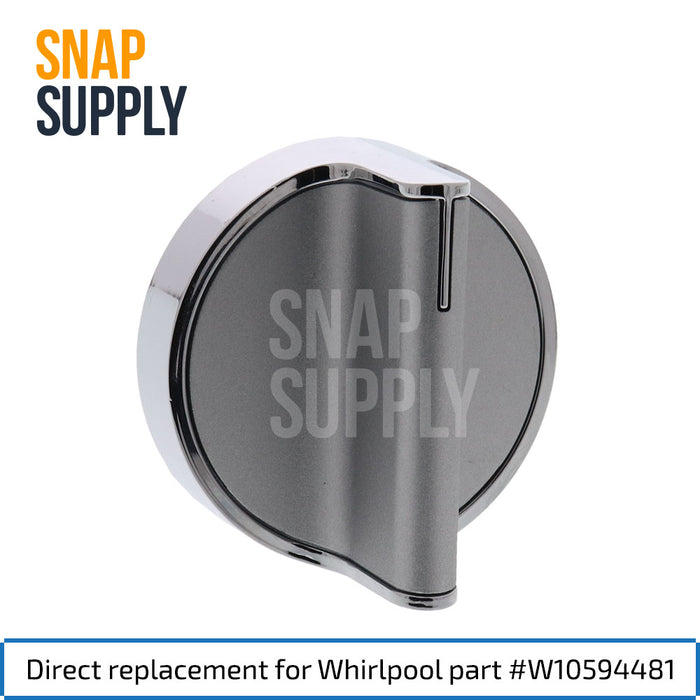 W10594481 Knob for Whirlpool - Snap Supply -Oven Parts and Accessory [Product_Sku]