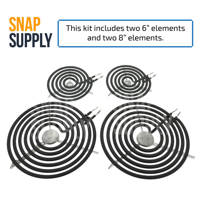 WB30M1 (2) & WB30M2 (2) Surface Element Kit for GE - Snap Supply -Home Improvement [Product_Sku]