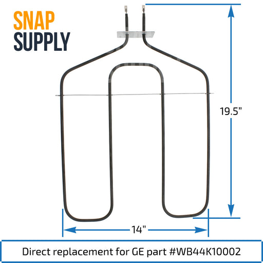 WB44K10002 Broil Element for GE - Snap Supply -Element [Product_Sku]