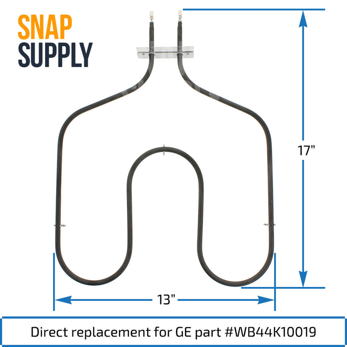 WB44K10019 Bake Element for GE - Snap Supply -Element [Product_Sku]