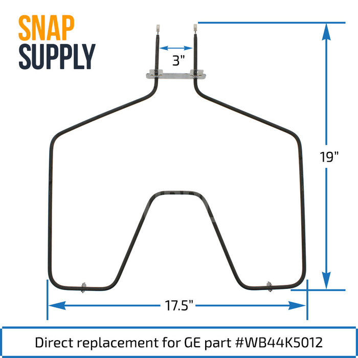 WB44K5012 Bake Element for GE - Snap Supply -Element [Product_Sku]