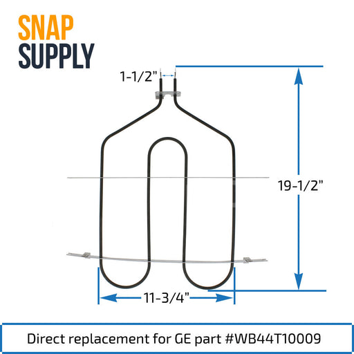 WB44T10009 Broil Element for GE - Snap Supply -Element [Product_Sku]