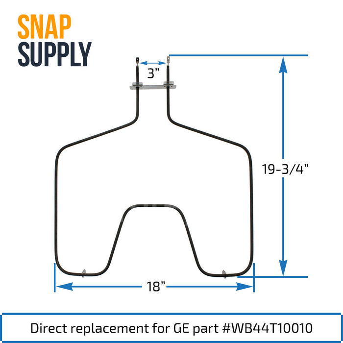 WB44T10010 Bake Element for GE - Snap Supply -Element [Product_Sku]
