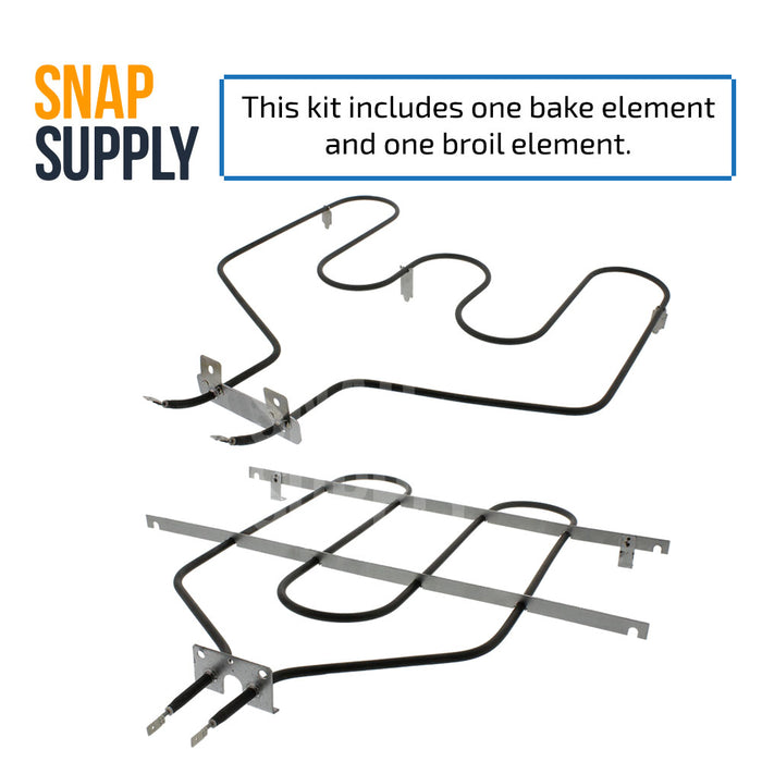 WB44T10011 & WB44T10009 Bake & Broil Element Kit for GE - Snap Supply -Element [Product_Sku]