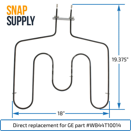 WB44T10014 Bake Element for GE - Snap Supply -Element [Product_Sku]