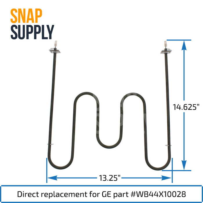 WB44X10028 Bake Element for GE - Snap Supply -Element [Product_Sku]