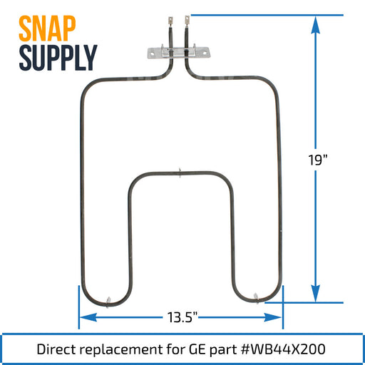 WB44X200 Bake Element for GE - Snap Supply -Element [Product_Sku]
