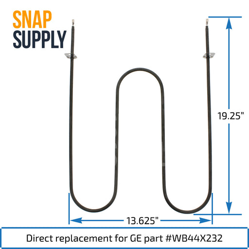 WB44X232 Broil Element for GE - Snap Supply -Element [Product_Sku]
