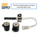 WE4X739 & WE04X10020 Dryer Igniter & Gas Valve Coil Kit for GE - Snap Supply -Dryer Parts and Accessory [Product_Sku]