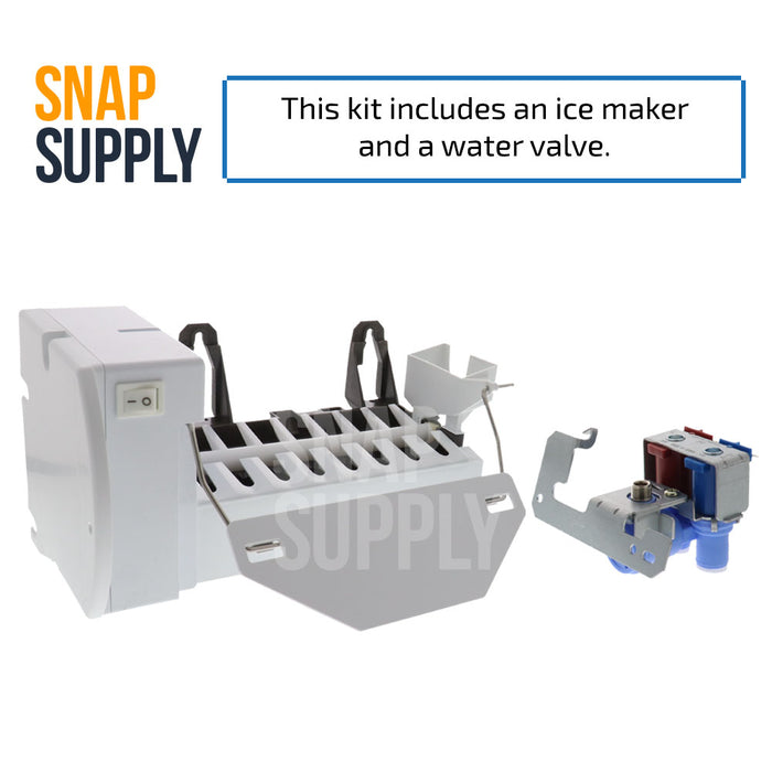 WR30X10093 & WR57X10032 Snap Supply Ice Maker Kit for GE