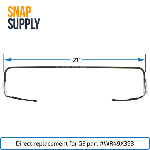 WR49X393 Defrost Heater for GE - Snap Supply -Refrigerator Parts and Accessory [Product_Sku]