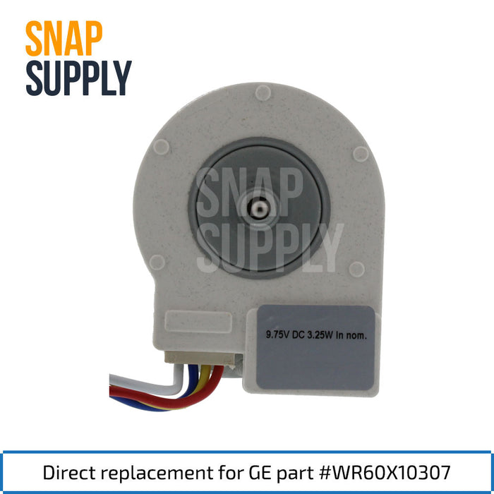 WR60X10307 Evaporator Motor for GE - Snap Supply -Refrigerator Parts and Accessory [Product_Sku]