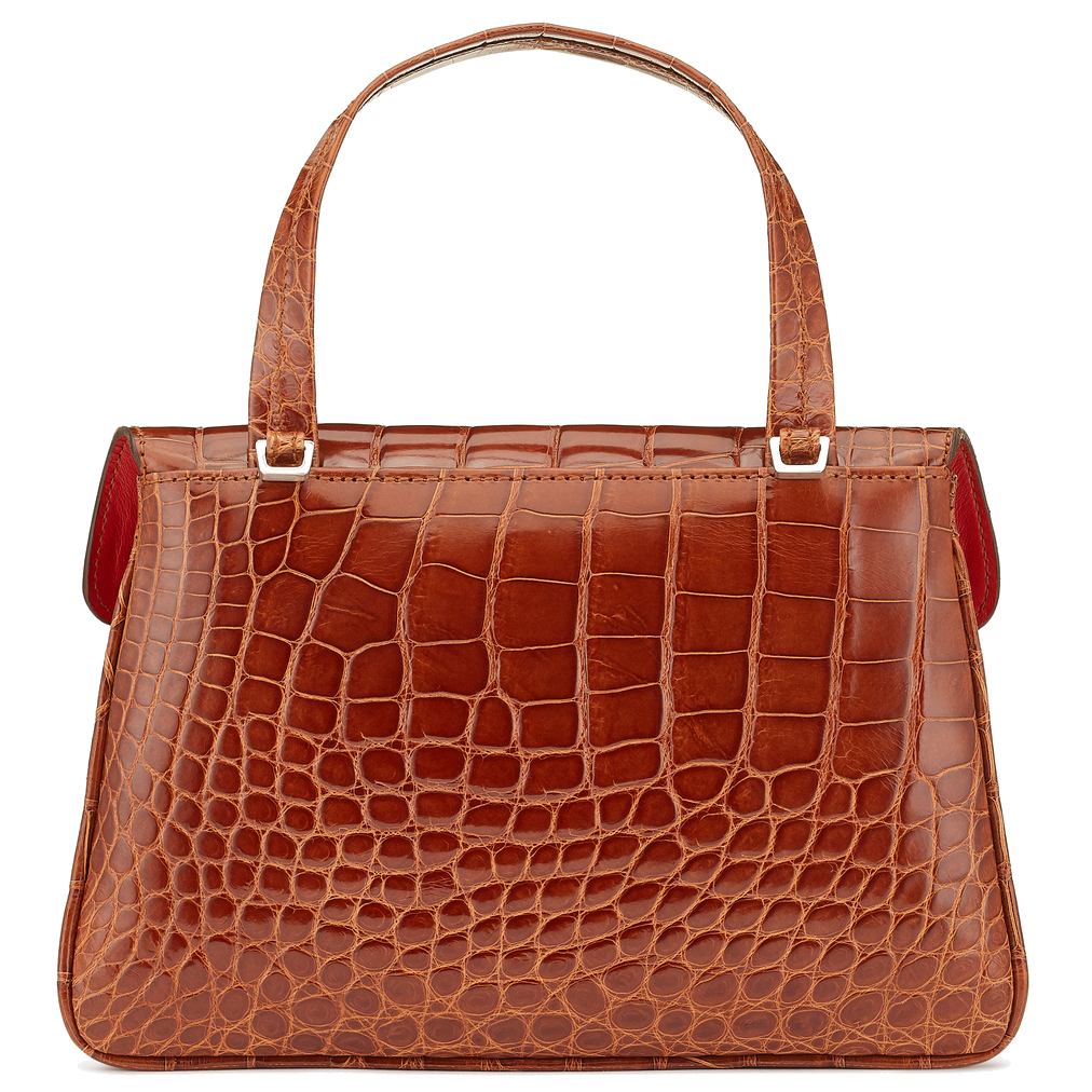 Aria Alligator crossbody top handle handbag