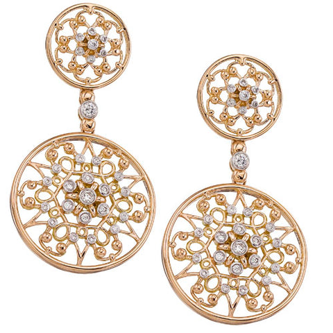 Byzantine Round Earrings