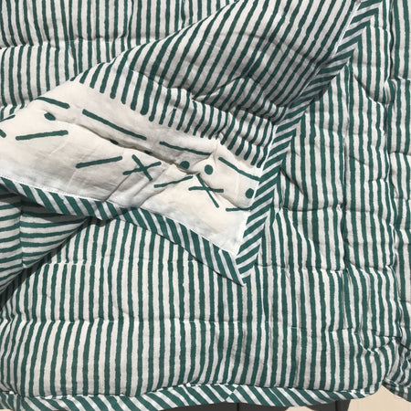 Proud Mary for Tilonia® Twin Quilt in Stripes in Teal