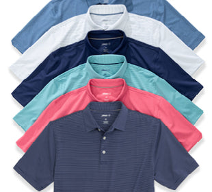 ALL NEW PREP-FORMANCE POLOS