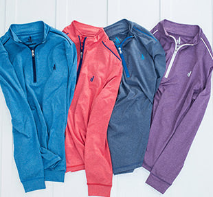 PREP-FORMANCE 1/4 ZIP PULLOVERS