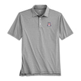 University of Arizona Lyndon Striped PREP-FORMANCE  Polo