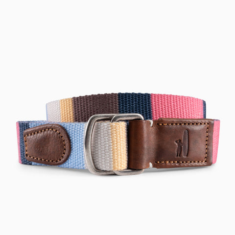 Bowen Striped Washed Canvas D-Ring Belt