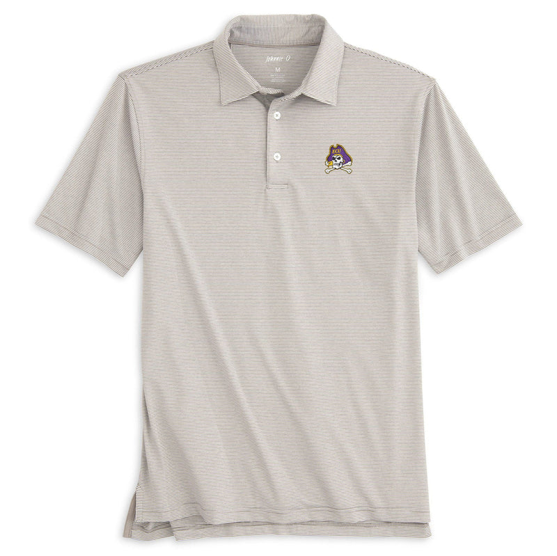 East Carolina University  Lyndon Striped PREP-FORMANCE  Polo