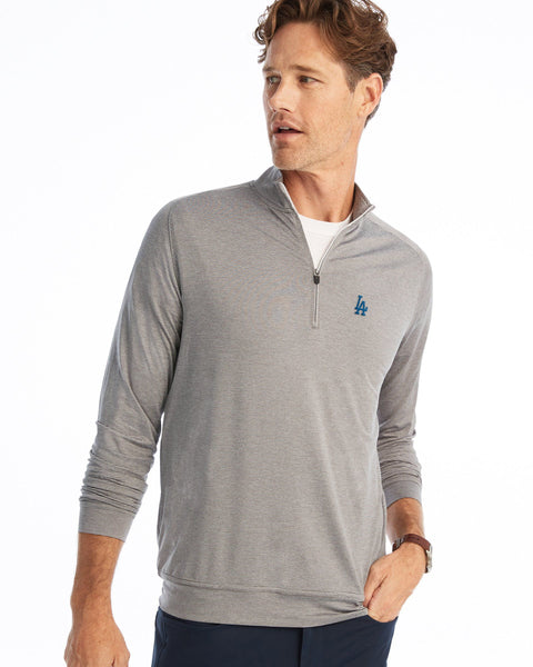 Dodgers Vaughn Striped 1/4 Zip PREP-FORMANCE Pullover