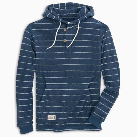 Outboard Jr. Stripe Hooded Henley