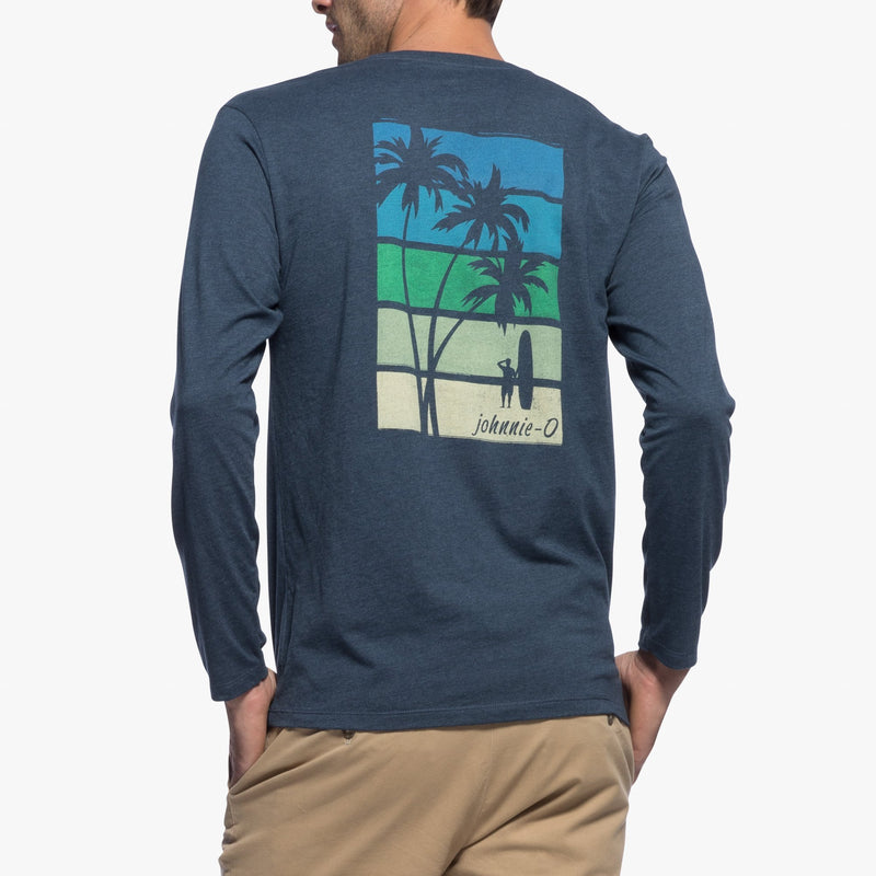 Palms Stripes Long Sleeve T-shirt