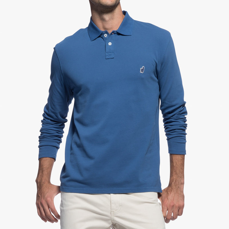 Duncan 2-Button Long Sleeve Polo