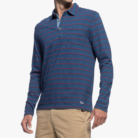 Tilly 3-Button Long Sleeve Polo