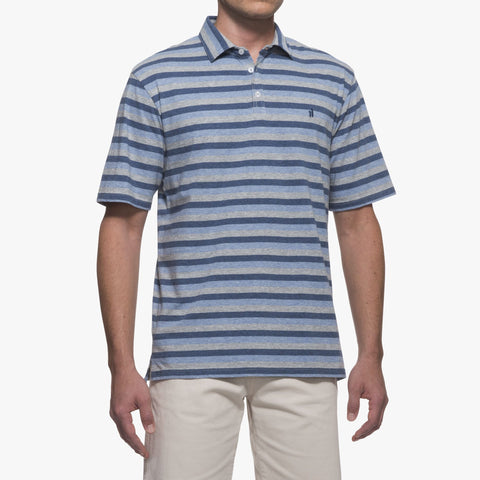 Trent Striped 3-Button Polo