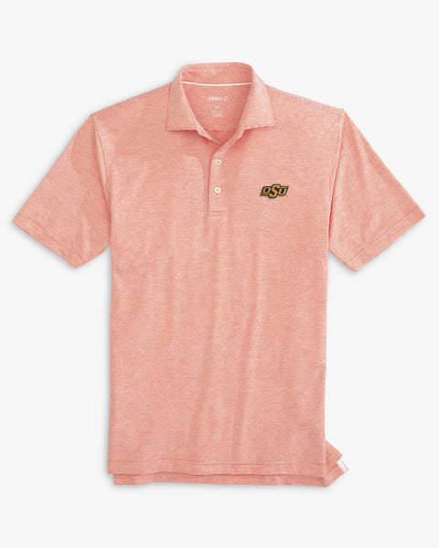 Oklahoma State University Lyndon Striped PREP-FORMANCE Polo