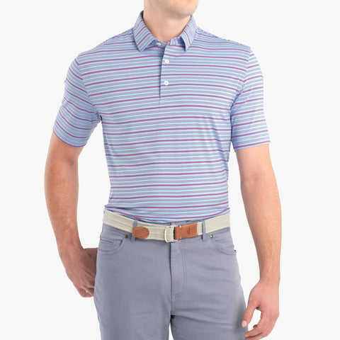 Kingston Striped PREP-FORMANCE Jersey Polo