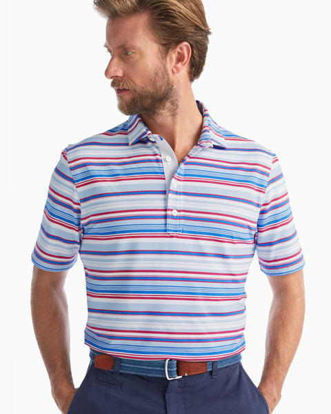 Seger Striped PREP-FORMANCE Pique Polo