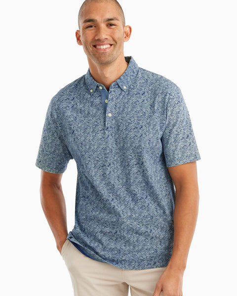 Overboard 3-Button Printed Polo